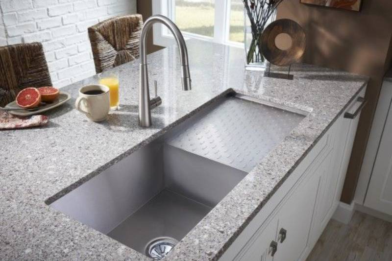Undercount Stainless Steel Sink With Drainboard